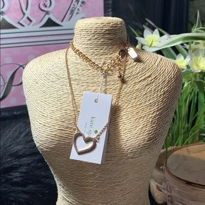 Kate spade necklace heart NWT rose gold
